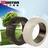 El neumático del acoplado, Patín-Dirige el neumático, neumático de la carretilla elevadora, neumático sólido del neumático