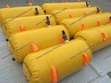 Saco de água amarelo para o teste de carga do barco salva-vidas