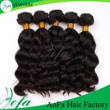 Preto natural do Virgin humano brasileiro e peruca do cabelo humano de Brown