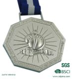 Metal su ordinazione Religious Medallion con Ribbon