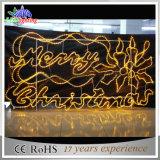 LED 매력적인 전시 표시 즐거운 성탄 편지 훈장 빛