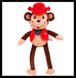 Le bébé de Hotsale badine la poupée animale de jouet de singe de crabot de chat de peluche velue