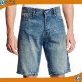 A sarja de Nimes reta frouxa do projeto Shorts Shorts rasgados Mens das calças de brim