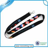 Supplier Heat decal Lanyard Sublimation with Metal Hook applied
