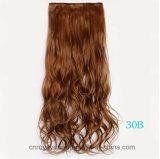Clip sur le clip de cheveu synthétique de clips de la prolonge cinq de cheveu