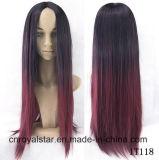 Parrucca superiore dello Synthetic delle parrucche del Anime di Cosplay dei capelli di pendenza