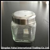 vaso di vetro libero quadrato dell'alimento 1000/1350/1650ml con il coperchio del metallo