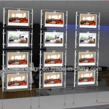 Real Estate Crystal Ceiling Light com acrílico Folha Acrílico LED Light Box