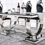 Обедать таблица мебели мраморный обедая с ногой металла