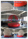 Menschliche Größen-aufblasbare Weihnachtsschnee-Kugel
