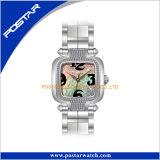 Regalo di lusso dell'orologio della manopola quadrata per Movt svizzero unisex