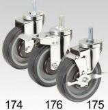 Purpurroter PU-Schwenker-Schraubverschluss- Fußrolle