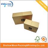 Produits de beauté d'or de luxe personnalisés de fermeture d'aimant empaquetant le cadre (QYCI1504)