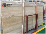Pierre en bois d'or/beige de travertin de veine pour la tuile de /Wall d'étage