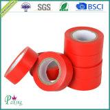Bande électrique d'isolation de PVC de couleur adhésive intense