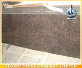 Partie supérieure du comptoir en gros de granit de Tan Brown pour la cuisine et la salle de bains
