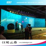 Publicidad del vídeo de la cortina de la visualización de LED del alquiler P3.91 y funcionamiento de interior 500m m x 1000m m de la etapa