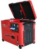 7kVA tipo silencioso de refrigeração ar gerador do diesel