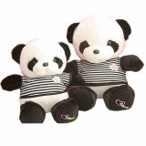 Het best Gemaakt van de douane de Panda draagt de Gevulde Dieren van de Pluche Speelgoed met Geluid