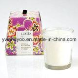 Vela perfumada decorativa casera de la soja en estaño del regalo