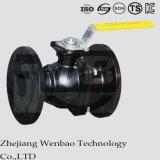 Classe manuelle 150/300 de robinet à tournant sphérique de bride de corps fendu de la norme ANSI 2PC