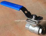 acciaio inossidabile della valvola a sfera 2PC con l'estremità della flangia