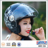 De casque fleuri de moto de face de CEE demi avec Bluetooth (OP218)