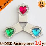 심혼 모양 펀던트 수정같은 보석 USB 섬광 드라이브 (YT-6231-05)