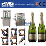 Enchimento de lavagem automático de Champagne do frasco de vidro arrolhando a máquina