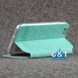 iPhone 6을%s PU Flip Stand Leather Wallet Case