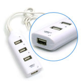 Laptop PC Computer Laptop를 위한 Micro 고속 Mini 4 Port USB 2.0 Hub