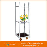 2016 Lager Galvanized Transportation Cart Trolley mit 4 Wheels