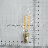 Lámpara de filamento del LED C35W 2W E14