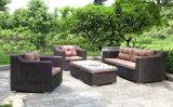 insieme moderno di lusso del sofà della mobilia del rattan del PE della villa by-420