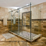 Vidro branco Tempered de Extral para o chuveiro Enclourse