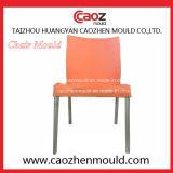 Armless Stuhl-Plastikform mit dem Metallbein