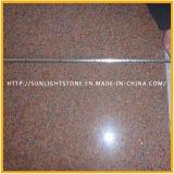 Het oppoetsen van de Rode Plakken van het Graniet Tianshan voor de Tegels of Worktops van de Vloer