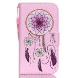 Крышка мобильного телефона типа бумажника/аргументы за Samsung G3608/G5308/Note 5/P8/S3/S4/S5/S6, с веревочкой