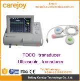 Cer-Markierungs-fötaler Monitor-fötaler Puls-Monitor mit Toco/Ultraschallsignalumformer-einzelne Zwillinge Wahlweise freigestellt-Maggie