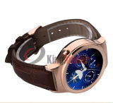 "1.22 "" Band en cuir Smart Watch Phone avec la carte SD Bluetooth 3.0 (S3) de SIM"