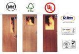갱도지주 방화문 또는 나무로 되는 화재는 영국 증명서, 증명된 UL를 가진 문을 평가했다