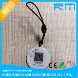 Карточка бирки размера RFID Epoxy клея подгонянная с ключевой цепью