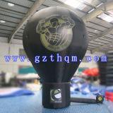 De nieuwe Ballons van de Grond van Reclame 6m Opblaasbare Zwarte/de Openlucht Opblaasbare Ballon van de Grond van de Bevordering