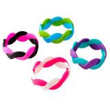 Costume dos Wristbands do silicone dos braceletes da faixa de borracha gravado