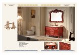 Gabinete de banheiro americano de madeira sólida em alta qualidade