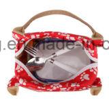 Напольным изолированный пикником мешок обеда с животной картиной
