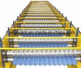 Glasig-glänzende Wand-Blatt-Rolle, die Maschinen-Zeile für Metallgewölbtes Dach-Panel bildet
