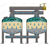Agua del ciclo de la energía eléctrica por el filtro del paso