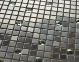建築材料のLuxuy様式の水晶モザイク・タイルの混合されたステンレス鋼(FYMF1009)