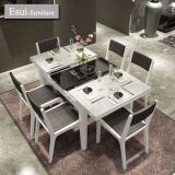 Tabella pranzante moderna con vetro Tempered per pranzare la mobilia di Romm (CZ020B#)